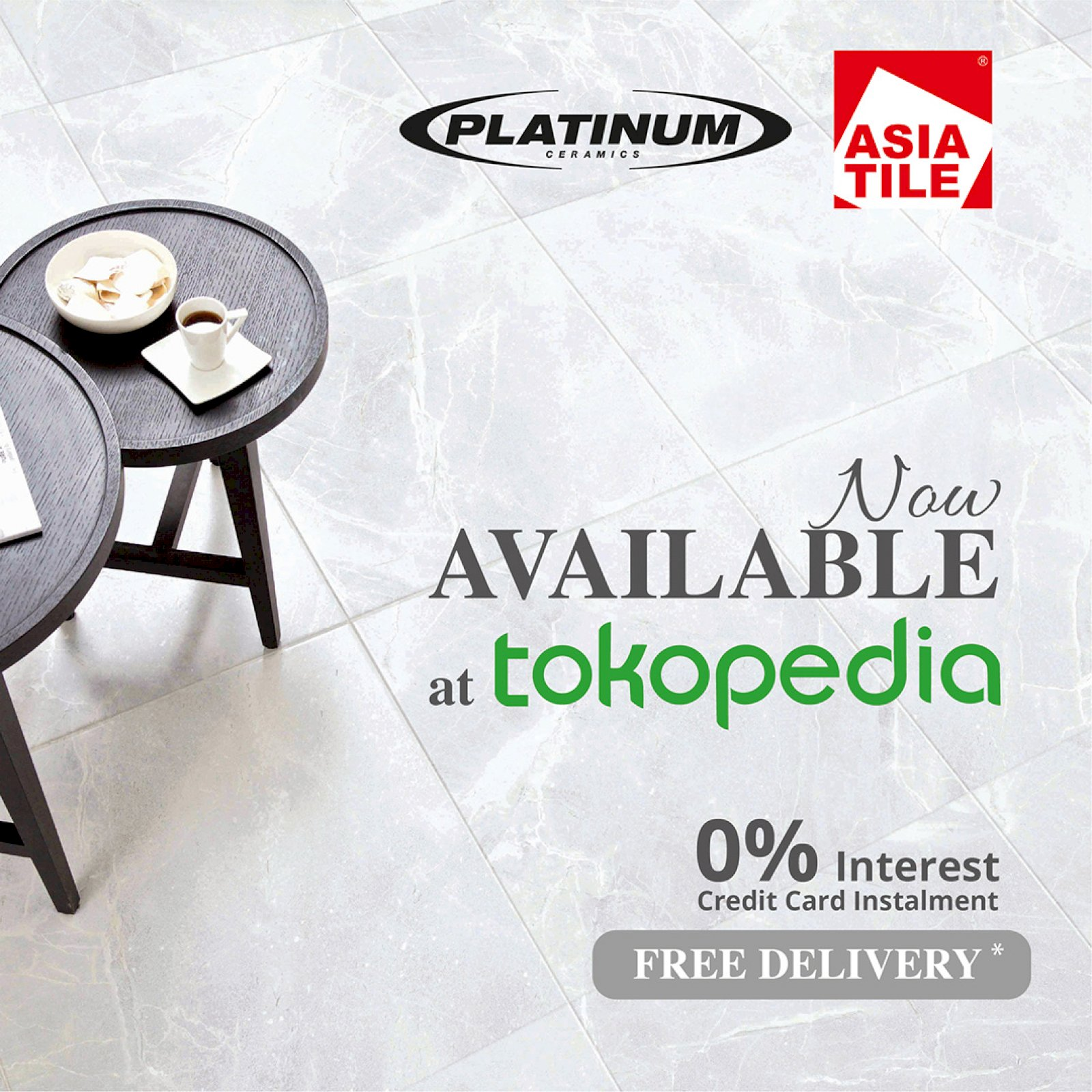 Platinum Ceramics & Asia Tile are now available at Tokopedia